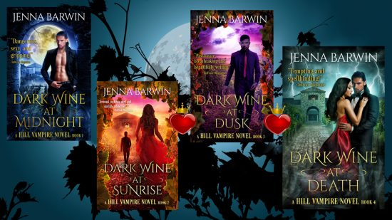 Book cover images of the Dark Wine/Hill Vampire series